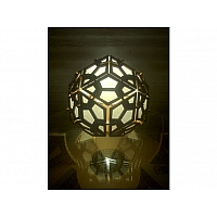 Rhombic Triacontahedron Lamp