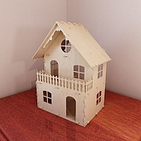 Natural 1:12 scale dollhouse plans. Dolls 4-7 inch (12-16 cm) high. Instant download. Vector model for router and laser cut. Plywood 5mm/4mm. DIY.