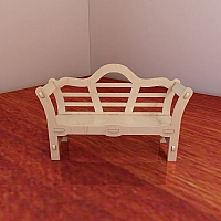 Great Barbie doll's bench. Pattern vector model for CNC router and laser cutting. Plywood 3mm/4mm/5mm/6mm. Barbie scale dollhouse (1:6). CNC plans.