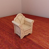 Great Barbie armchair design. Barbie size furniture. Vector projects for CNC router and laser cutting. Woodworking plans. Plywood 3/4/5/6mm.