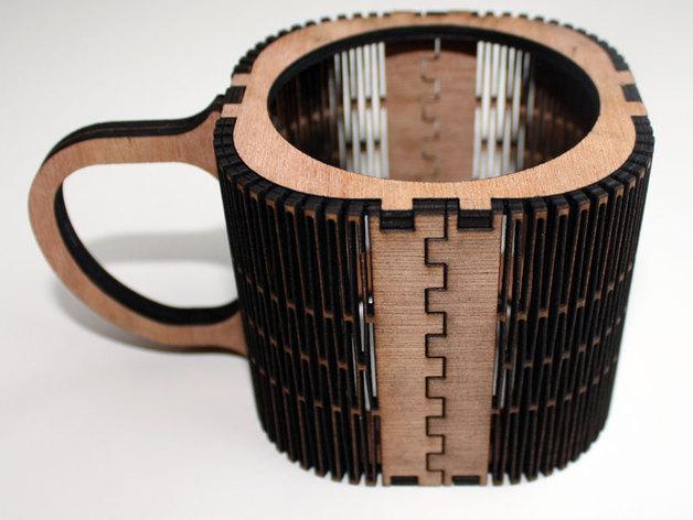 Lasercut & laserengraved cupholder