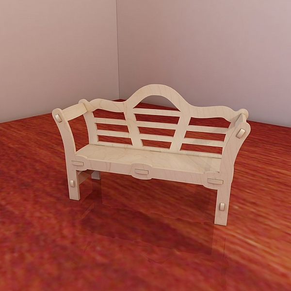 Great Barbie Doll S Bench Pattern Vector Model For Cnc